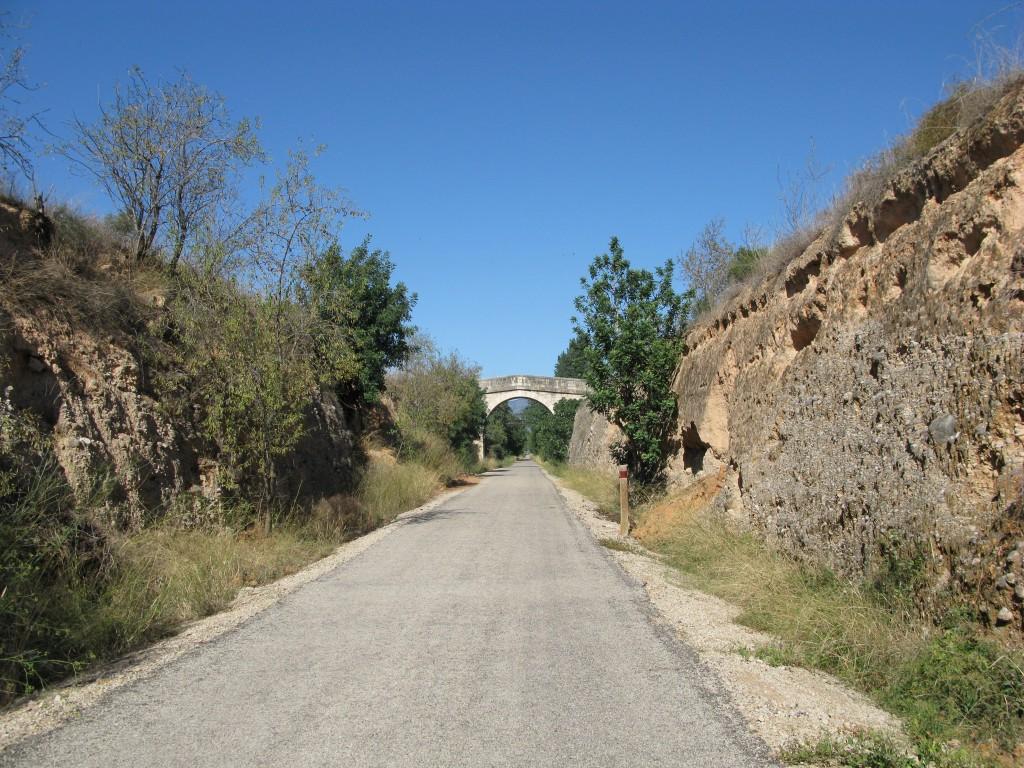 Via Verde del Baix Ebre auf den ersten Kilometern