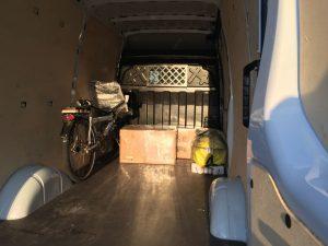Alles gepackt, fertig für die Reise