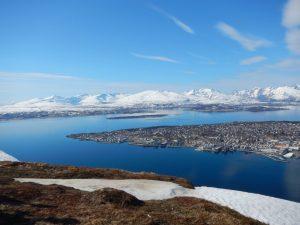 Der Ausblick vom Storsteinen auf Tromsö.... Geniales Wetter