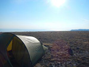 Zelt am Nordkapp